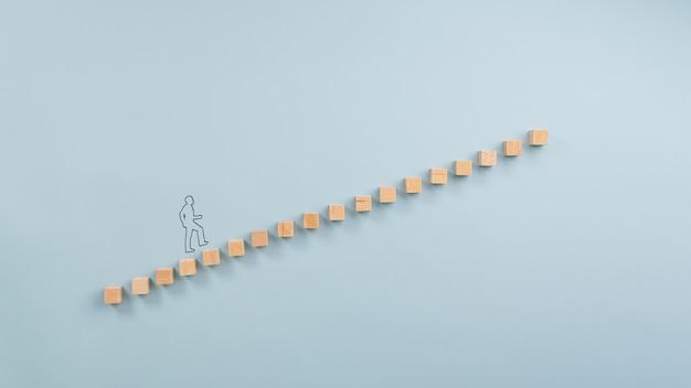 Лестница успеха концептуального изображения