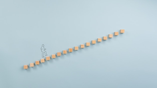 Ladder of success conceptual image