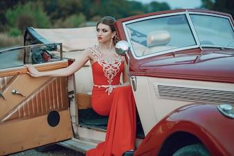 Lady in a car
