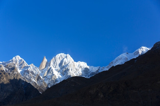 Ladyfinger peak altitude 6,200 m in the karakoram mountains range of  batura muztagh