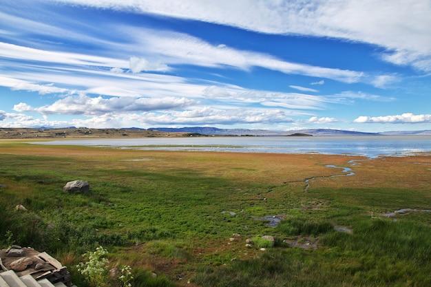Lago argentino в эль калафате, патагония, аргентина
