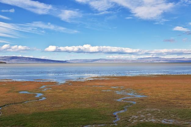 Lago argentino в эль-калафате патагония, аргентина