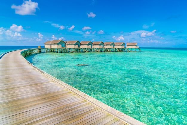 Lagoon landscape hut reef bay