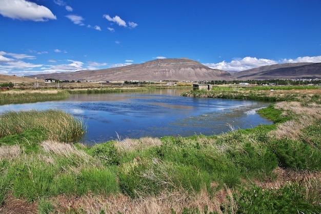 アルゼンチン、パタゴニア、エルカラファテのラグーナニメスレゼルバ