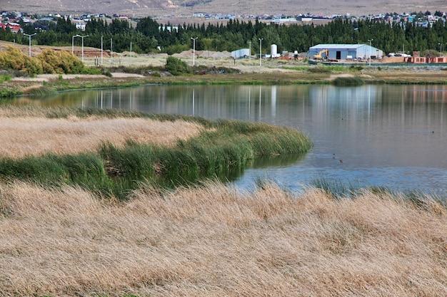 Laguna nimez reserva в эль калафате, патагония, аргентина