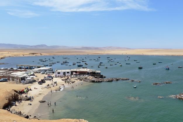 ラグニラビーチ訪問者の隣のビーチの美しい景色