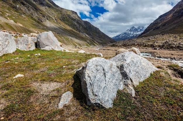 인도 히말라야 인도 라 하울 계곡
