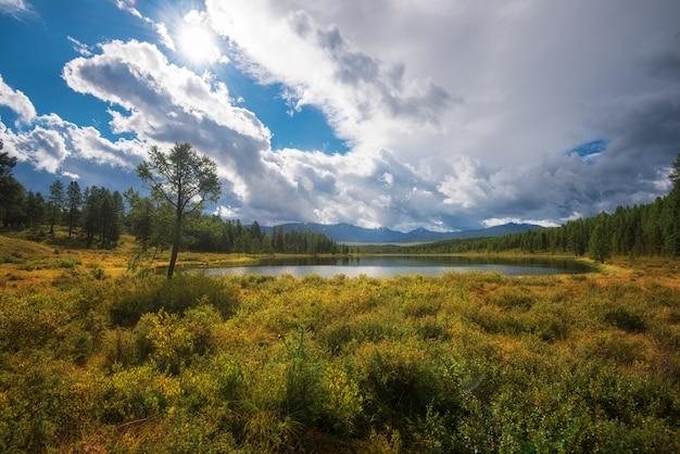 Lake in the altai mountains