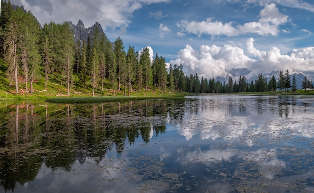 Lake antorno in the dolomites