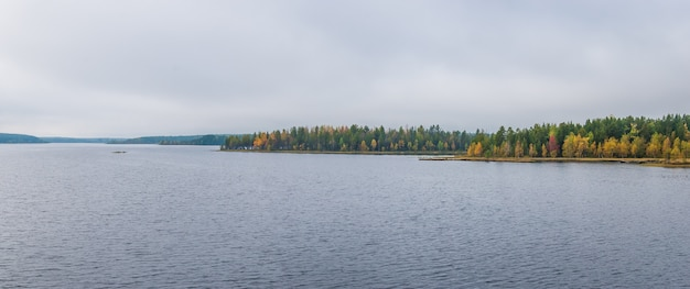 Lake on a cloudy day