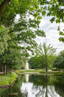 Berlins 중앙 공원 tiergarten의 호수