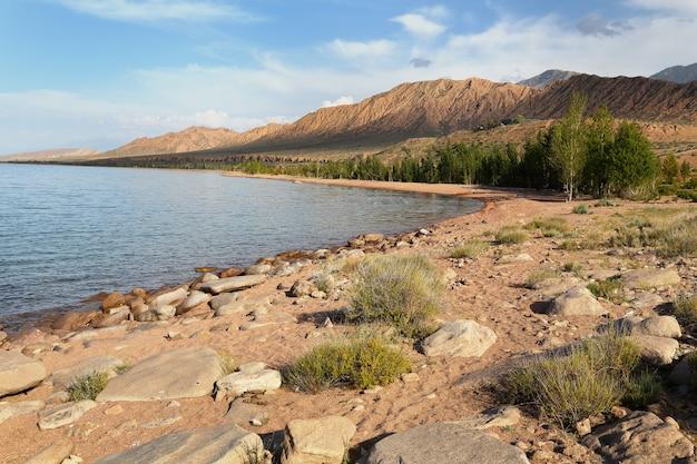 Lake issyk-kul. kyrgyzstan.