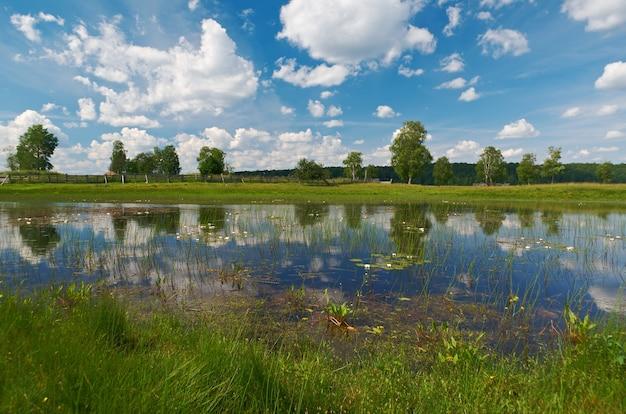 케노제로 호수. 러시아 아르한겔스크 지역