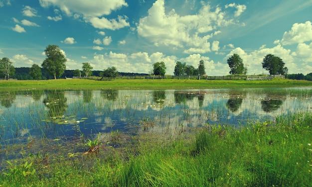 Озеро кенозеро. архангельская область, россия