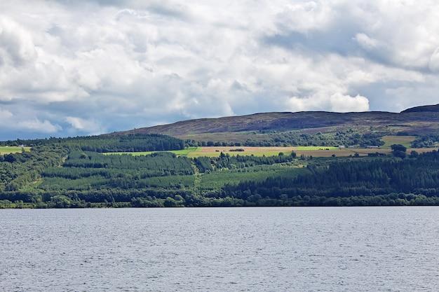 Lake loch ness in scotland, uk