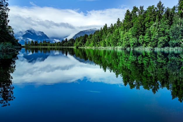 Lake matheson most popular traveling destination