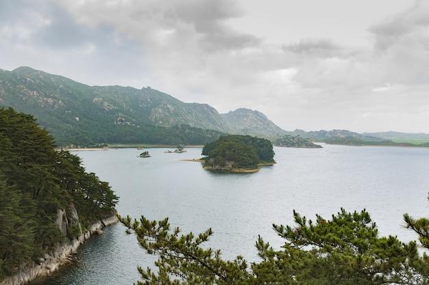 Lake samilpo, north korea