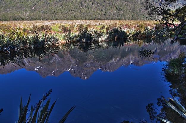 Lake of south island, new zealand