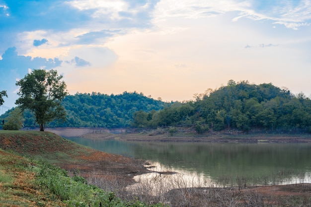 Lake view landscape