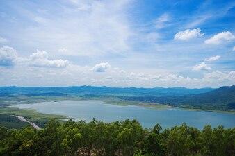 Lam Takong reservoir dam, Nakhon Ratchasima, Thailand