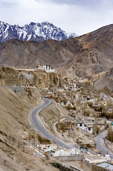 Lamayuru buddhist monastery within the indian himalayan region of ladakh, kashmir.