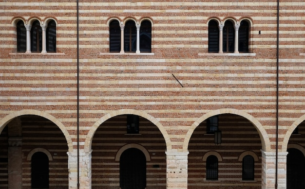 Lamberti tower in the city of verona in italy