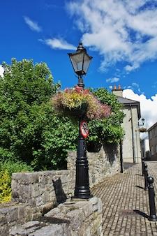 The lamp on the vintage street, kilkenny, ireland