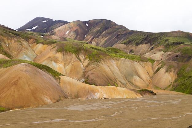 Landmannalaugar地域の風景、fjallabak自然保護区、アイスランド