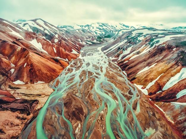 Landmannalaugarアイスランド高地の風景
