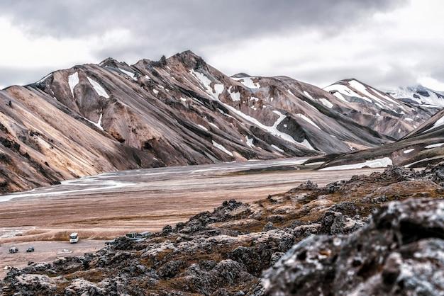 Landmannalaugarアイスランドハイランドの風景