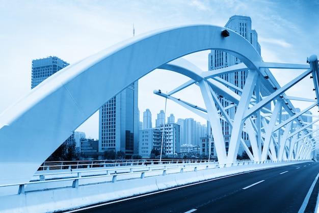 The landmark bridge in tianjin, china - progress bridge