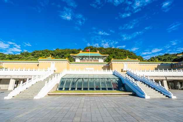 Landmark of taipei national palace museum in taiwan
