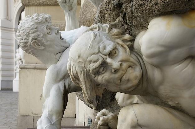 Landmark vienna sculpture men expressive austria