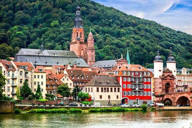 ドイツのランドマーク、バーデンヴュルテンベルク州の中世のハイデルベルクの町