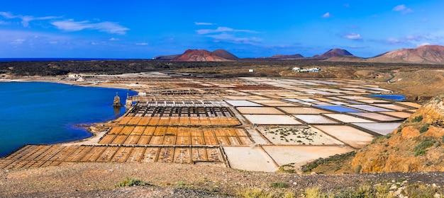 Достопримечательности острова лансароте - салинас-де-жанубио, главная соляная промышленность канарских островов.