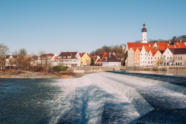 Landsberg am lech in winter, at bavaria germany