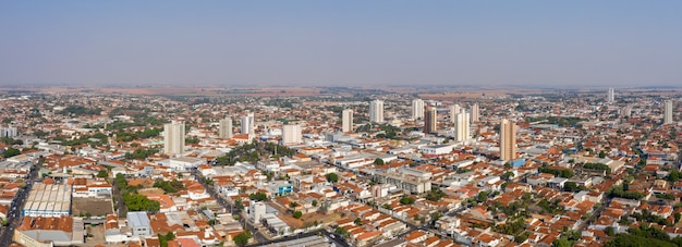 Landscape aerial view of city