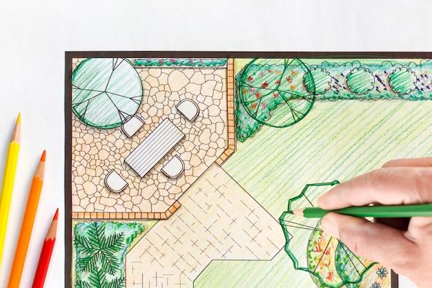 조경 건축가 디자인 뒤뜰 계획