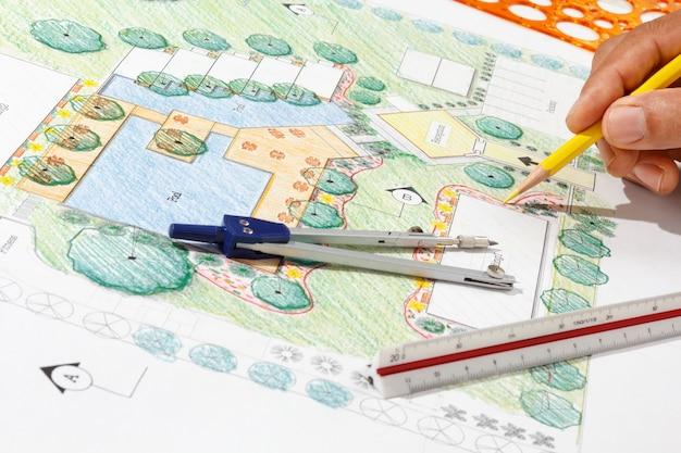 Ландшафтный архитектор дизайн отель план курорта