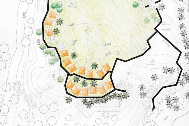 Ландшафтный архитектор разработка плана анализа территории курорта