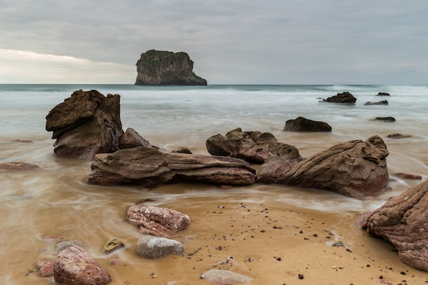 Landscape in ballota beach. asturias. spain.