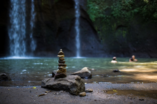 Landscape beautiful of waterfall in the bali