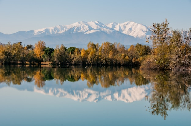 Landscape beauty natural capped canigou beautiful