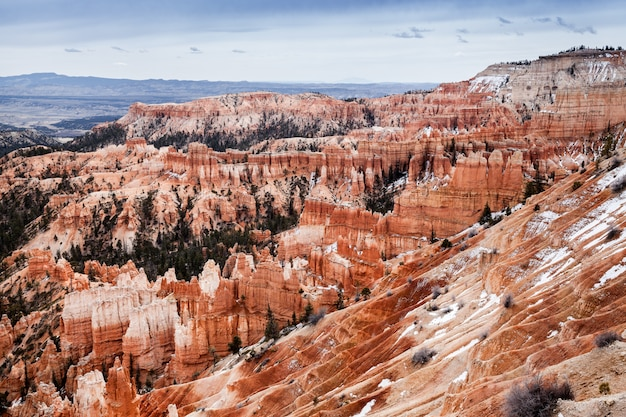 Landscape of bryce canyon national park in utah, travel in usa
