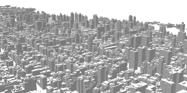 Landscape city skyscrapers tall buildings architecture panorama city life