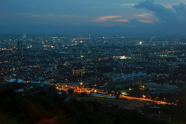 The landscape of a city in thailand.