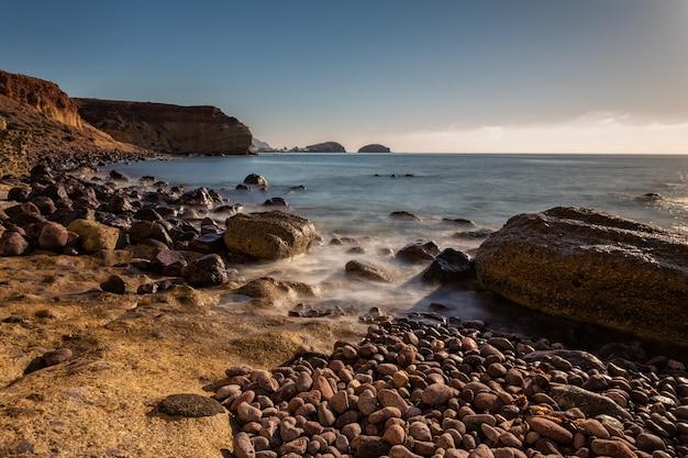 Landscape on the coast of la isleta.