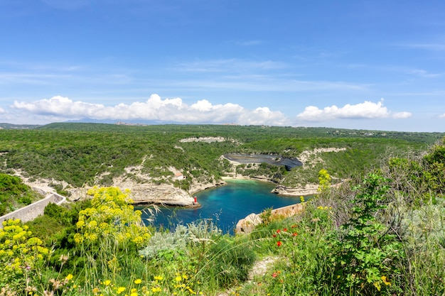 Landscape on corsica island in france