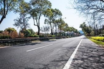 Landscape curve travel way road