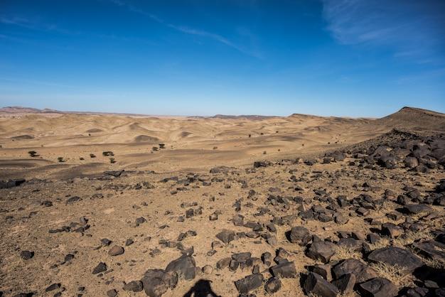 風景、砂漠、山々モロッコ